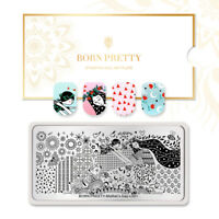 BORN PRETTY Nail Stamping Plates Flower Nail Art Image Plate Mother's Day L001
