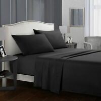 Single/Double/Queen/King SIZE Comfort Soft Flat Fitted Bed Sheet Pillowcase Set