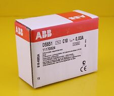 ABB DS651 RCBO Combined RDD-MCB Circuit Breaker 250VAC 10A 6kA