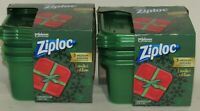 (Pack of 2) Ziploc Limited Edition Holiday Container Green Medium Square 3 Ct
