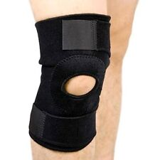 Black Neoprene Adjustable Open Knee Patella Tendon Support Brace Sleeve