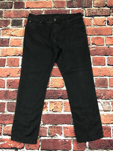 James Perse Standard 36x29 Linen Canvas Pants jeans button fly straight black