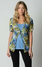 Millers Ladies Short Sleeve Crinkle Top sizes 12 14 18 Multi Colour