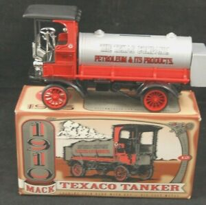 1910 TEXACO Mack Tanker Truck Bank Series #12 ERTL for KIPP Brothers ,Inc. MIB