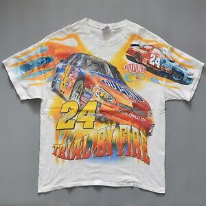 VTG 2006 Jeff Gordon #24 NASCAR car racing T Shirt Chase XL cotton Trail by Fire