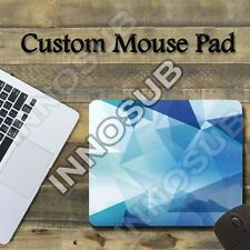 "Abstract Blue Geometric Cool Mouse Pad 1/8"" thick-7.75""x9.25"" Gaming Mousepad"