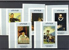 YEMEN - 5 STAMPS IMPERFORATED -FAMOUS PAINTERS --** MNH --- VF - @2