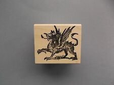 100 PROOF PRESS RUBBER STAMPS CREST DRAGON NEW STAMP