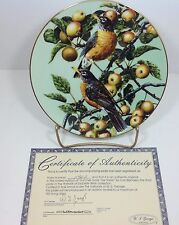 Portraits of Exquisite Birds Summer Gold The Robin Bradford Exchange Plate #3