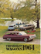 1964 Chevrolet Impala Bel Air Biscayne Chevelle Chevy II Station Wagon Brochure