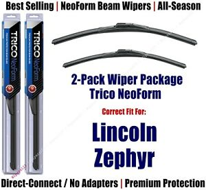 2pk Super-Premium NeoForm Wipers fit 2006 Lincoln Zephyr 16240/190