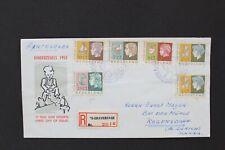 NEDERLAND 1953 Aangetekende FDC kinderzegels naar Zwitserland NVPH E15