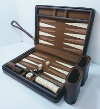 LUXURY BACKGAMMON game travel case, board games, strategy, compact game