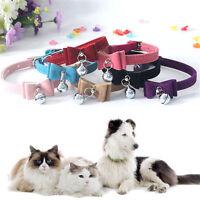 1 pcs Cute Pet Collar Cat Dog Puppy Bell Chain Velvet Bow Tie Adjustable Bowtie