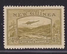 NEW GUINEA 1939 4d Olive Bulolo AIR MAIL NEW GUINEA MINT/MH (KI46)