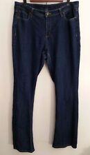 Ashley Stewart Jeans 16 Boot Cut Dark Wash Cotton Blend Stretch Womens Denim