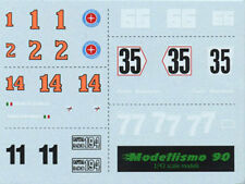 Modellismo 90 1/43 DEC.01 Additional decal sheet Ferrari/McLaren/Brabham 1976/78