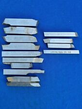 Lot Of 14ea Various Lathe Tool Bits Used