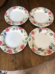 Pier 1 One Imports Laurina Floral Salad Plates (Set Of 4)