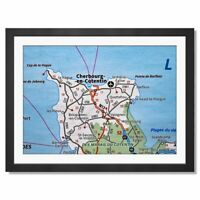 A3  - Cherbourg-en-Cotentin France French Travel Framed Print 42X29.7cm #44569