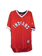 Cleveland Indians 70s Throwback Jersey Francisco Lindor Large Not Authentic