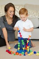 CC O PLAY 50pc Peg Board Stacking Toy for Toddlers - Montessori Educational Toy
