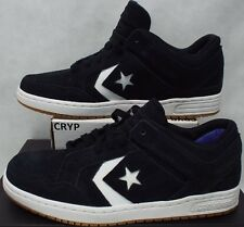 New Mens 10 Converse Star Player Weapon OX Black White Leather Shoes 147504C $85