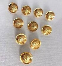 Lot of 10 Russian Army Military Gold Metal Buttons Lieutenant Uniform 14 mm