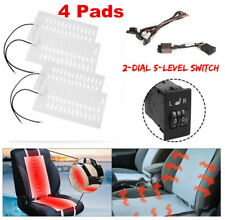 2 Seats Install Universal 2 Dial Switch Seat Heater Winter Heated Seat Kit 4 Pad