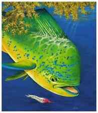Fly Fishing Ocean Painting Mahi Mahi, like Don Ray Guy Harvey