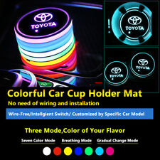 2pcs Colorful LED Coaster Atmosphere Car Part Light Bulbs For Toyota Neon Lights