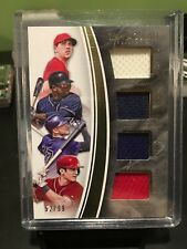 2016 IMMACULATE PISCOTTY / SANO / STORY / TURNER QUAD PATCH 52/99 IQP-SP