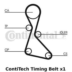 ContiTech Timing Belt - CT684 , 125 Teeth, Cam Belt - OE Quality