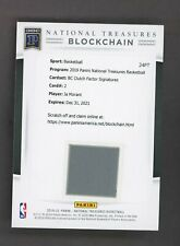 2019-20 National Treasures Clutch Factor Ja Morant RC AUTO Blockchain Redemption