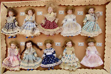 Salesman's Sample Boc 10 Antique German Bisque head Dolls