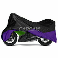 Large Sport Street Bike Purple Motorcycle Cover Outdoor Scooter Moped Protection