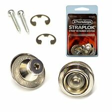 Dunlop Guitar Straplocks Locking Strap Buttons (Traditional Fitting) Nickel