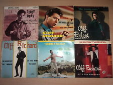 "Cliff Richard and the shadows with the drifters Lot 6x7"" French EP"