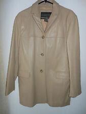 Banana Republic Leather Camel Coat Longline Boyfriend Blazer Jacket   Size M