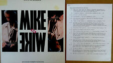 MIKE RUTHERFORD - MIKE ON MIKE - CANDID INTERVIEW - ATLANTIC - PROMO LP + CUES
