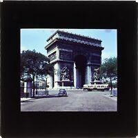 FRANCE Paris Arc de Triomphe 1955 Photo Plaque Projection Lanterne Magique