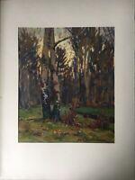 Impressionist Karl Hennemann 1887 - 1972 Abendlicht im Wald Schwerin Ahrenshoop
