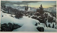 """Stephen Lyman """"Early Winter in the Mountains"""" Signed Print - Rare Early Print"""
