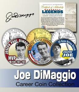 JOE DIMAGGIO BASEBALL LEGEND HALL OF FAME NY YANKEES State Quarter 3-Coin Set