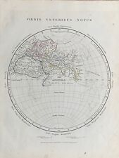 1841 ANCIENT WORLD EASTERN HEMISPHERE HAND COLOURED ANTIQUE MAP BY ARROWSMITH
