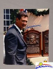 Ted Williams SIGNED 16x20 Hall of Fame Induction Green Diamond Hologram+PSA/DNA