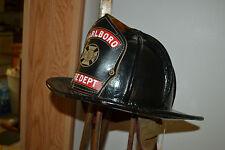 Antique Leather Cairns Firemans Fire Fighter Helmet Marlboro  Clifton New Jersey