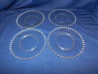 H2- Imperial Glass Co. Candlewick Crystal Salad Plates Lot of 4