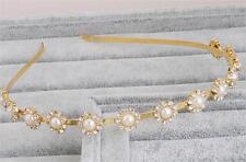 Cristal Vestido de Novia Accesorios Perlas Oro Diadema Pedrería Boda Tocado
