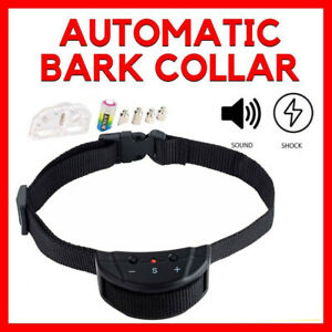 Pet Anti Bark Dog Training Collar Sound & Vibration Stop Barking Automatic Auto